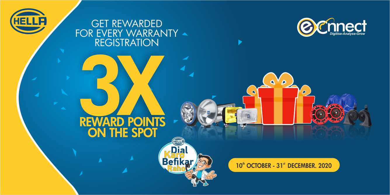 3X Warranty Reward Points