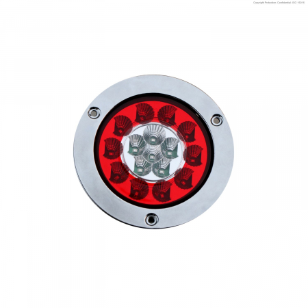 HELLA 328870131 4 inch LED Stop/Tail/DI Lamp, Red/Clear with Wire Leads
