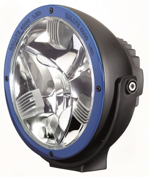 HELLA 011002101 Rallye 4000 LED Driving Lamp With Blue Ring