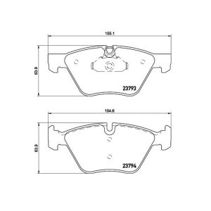 HELLA 355015031 FR Brake Pad For E60 525I