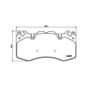 HELLA 355016151 FR Brake Pad For RANGE ROVER IV