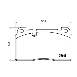 HELLA 355020241 RR Brake Pad For NEW Q5