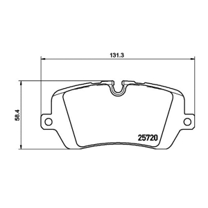 HELLA 355020361 FR Brake Pad For RANGE ROVER IV