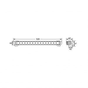 HELLA 958130041 LED Light Bars for Pencil Beam 470 MM - HD Bracket