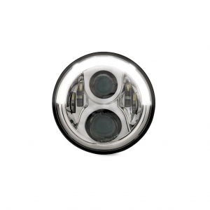 HELLA 958307011 7inch Round LED Headlamp with DRL
