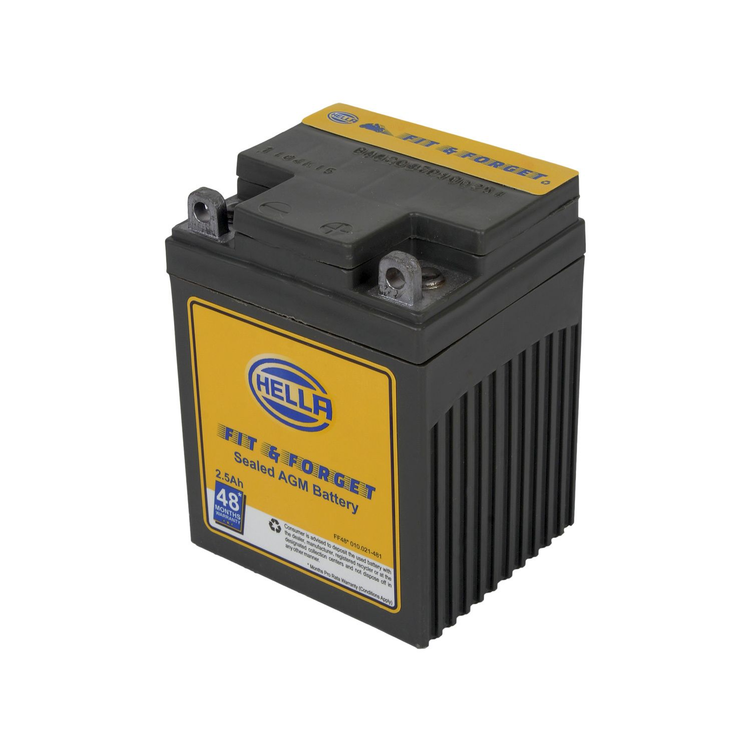 HELLA 010021481 Battery Fit N Forget 48* 2.5 AH