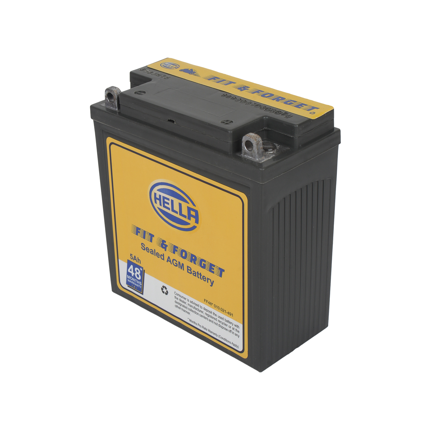 HELLA 010021491 Battery Fit N Forget 48* 5 AH