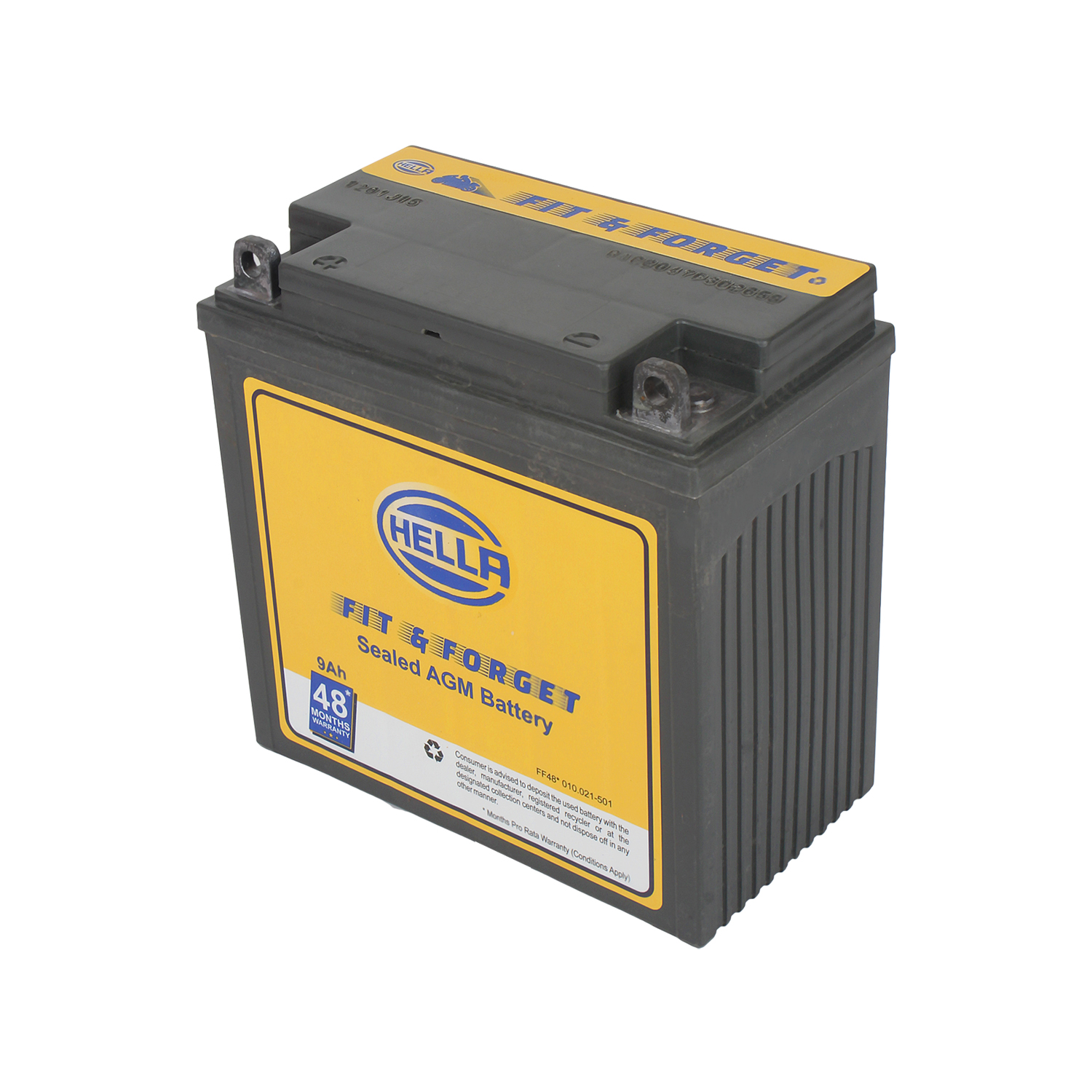 HELLA 010021501 Battery Fit N Forget 48* 9 AH