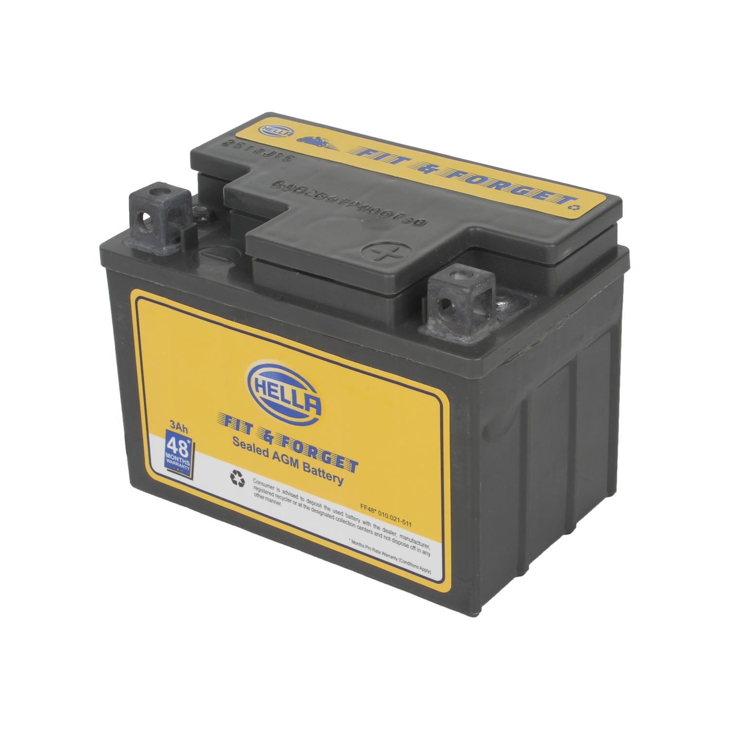 HELLA 010021511 Battery Fit N Forget 48* 3 AH
