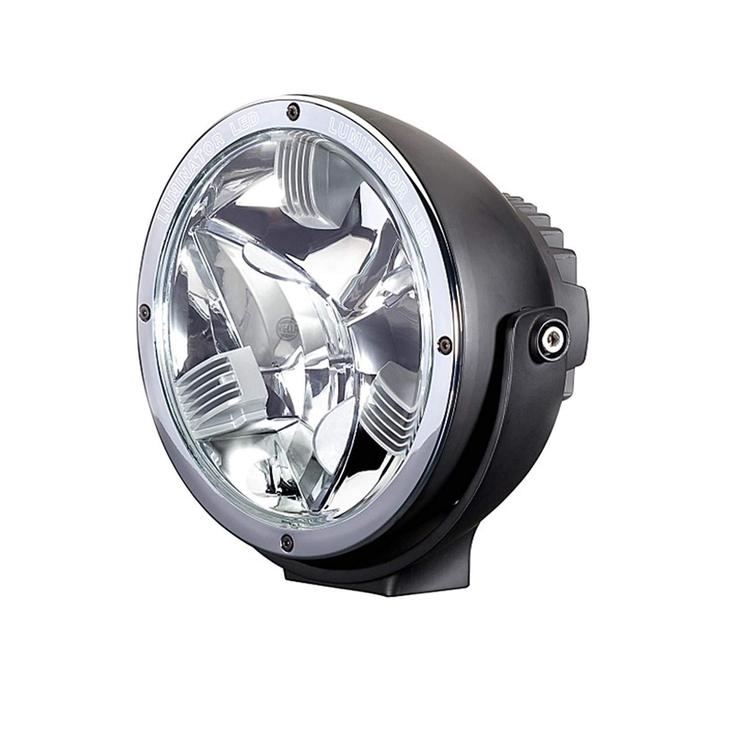 HELLA 011002001 Rallye 4000 LED Driving Lamp With Chrome Ring
