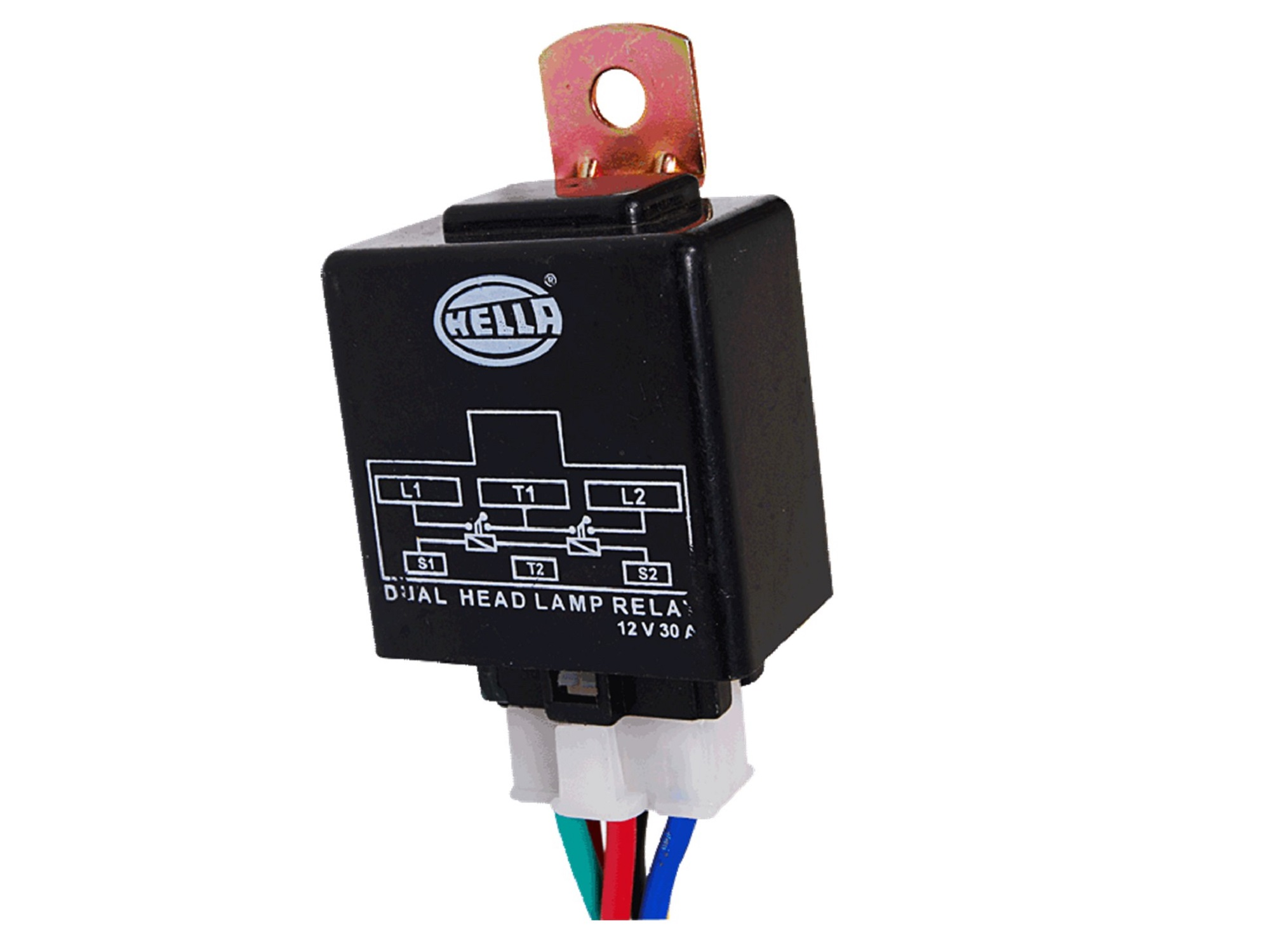 Hella 329316011 Head Lamp 12v Electrical Relay With Switch No Nc