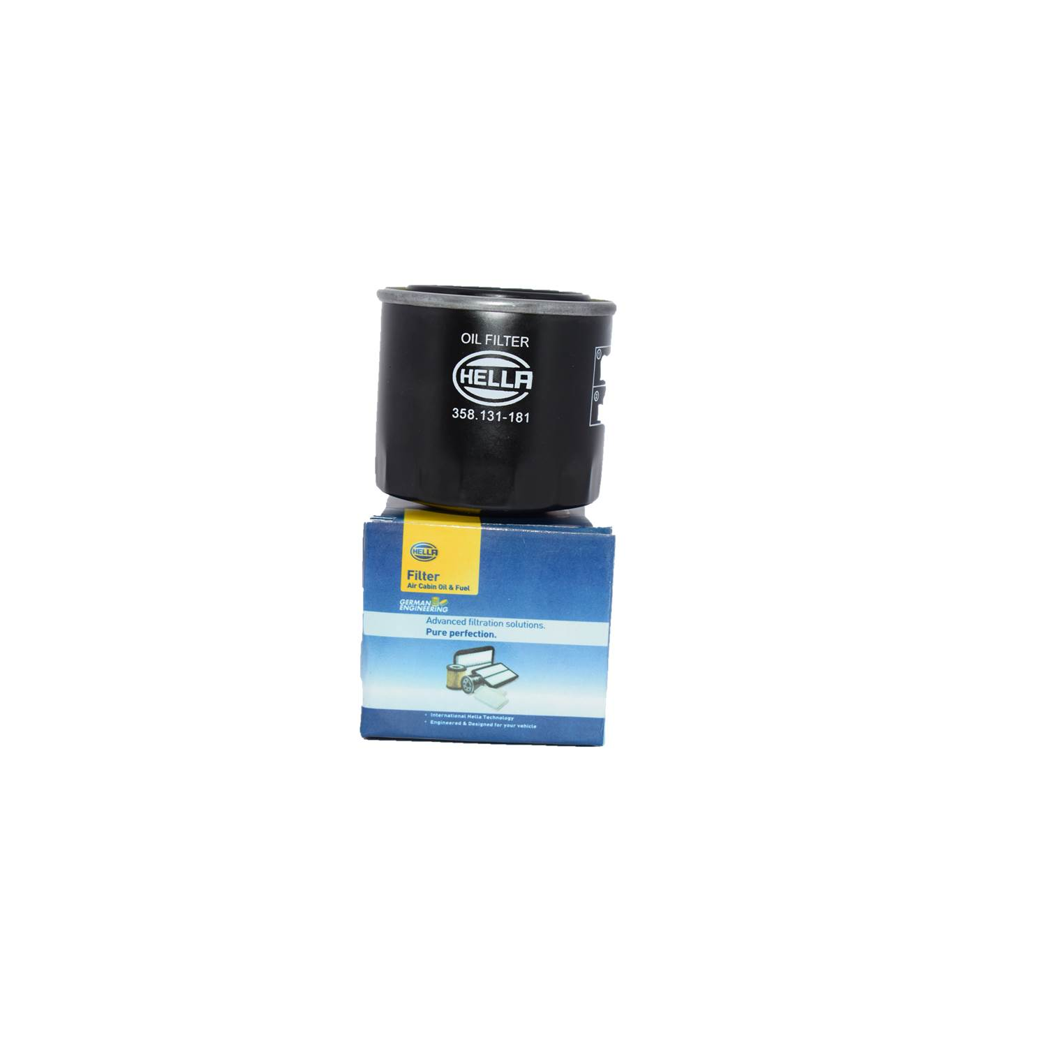 Hella 358131181 Oil Filter for Maruti 800 Cc/1000Cc/Esteem/Zen/Gypsy/Van (P)